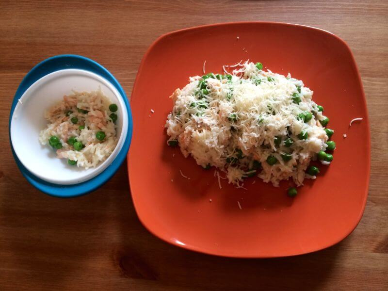 Lososové rizoto s hráškem – od 1 roku věku