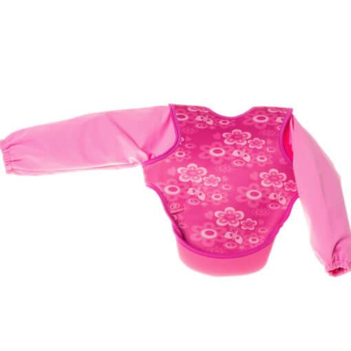 neoprenový bryndák s rukávky růžový motýlci