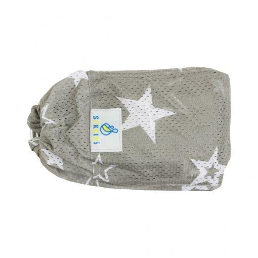 Šátek Sukkiri watter sling - světle šedá s hvězdami